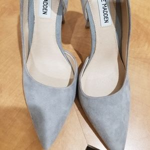 NWT Steve Madden Gray Suede Pumps